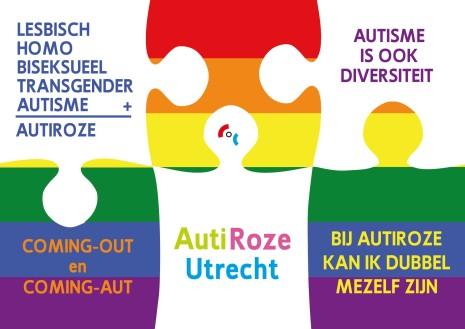 Postkaart AutiRoze COC Midden-Nederland