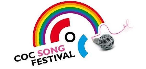 COC Songfestival LOGO STICKY bij COC Midden-Nederland