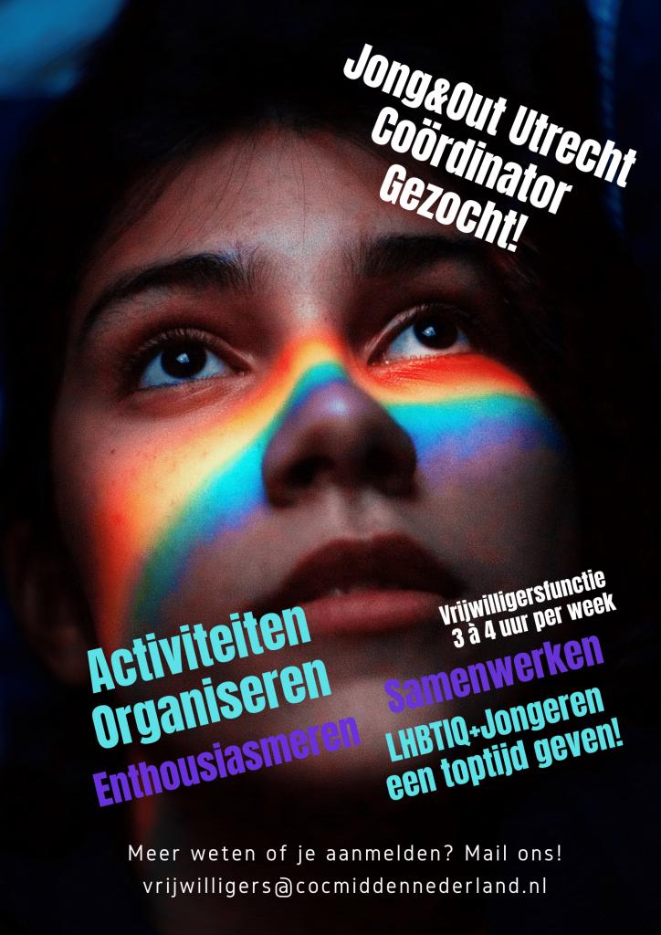 JongOut Utrecht Coördinator 2 min bij COC Midden-Nederland