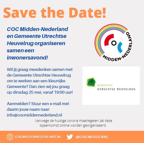savethedate25mei bij COC Midden-Nederland