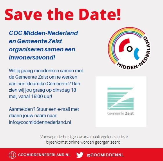 savethedatezeistjpg bij COC Midden-Nederland