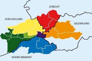 bestuurlijke indeling lvz bij COC Midden-Nederland